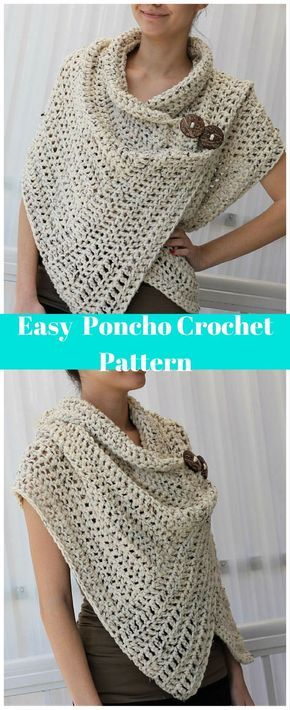 I love this! Sometimes I wish I knew how to crochet! #crochet #ad #poncho #giftsforher