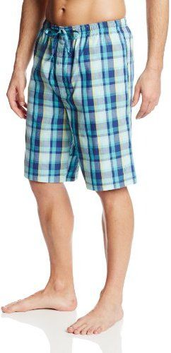 $32, Blue Plaid Shorts: Nautica Woven Plaid Short. Sold by Amazon.com. Click for more info: https://lookastic.com/men/shop_items/19808/redirect