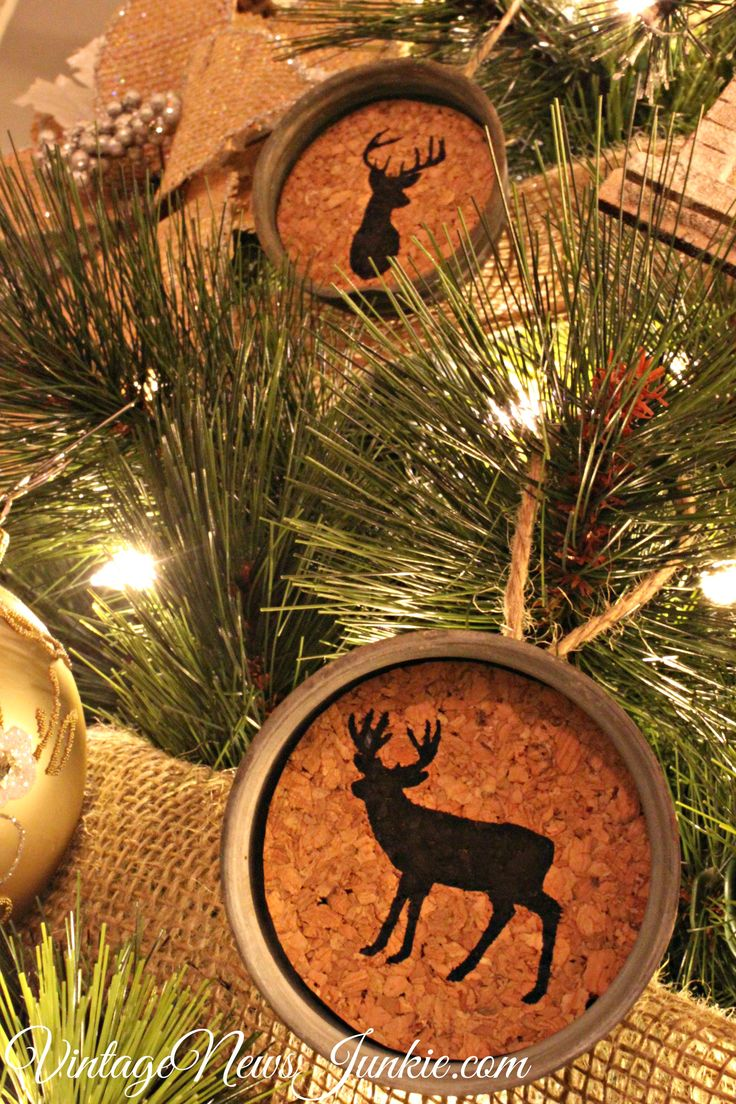 Rustic cabin christmas decorations - Oh Deer Mason Jar Christmas Ornaments A Gift Card Giveaway