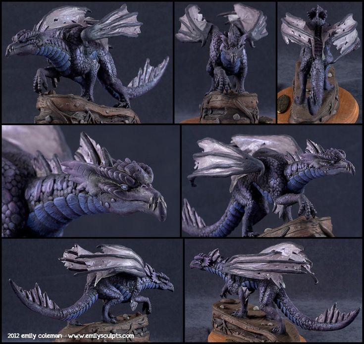 Commission : Shadow Dragon, Additional Shots by emilySculpts.deviantart.com