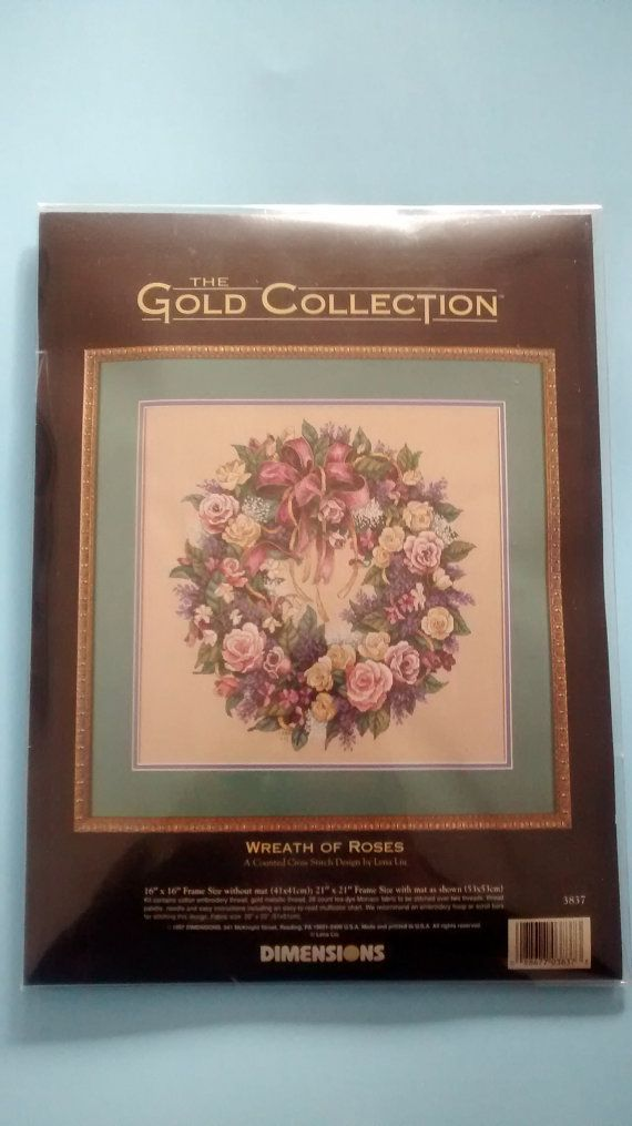 The Gold Collection Wreath of Roses for sale (SOLD) by TheresasTimeMachine on Etsy