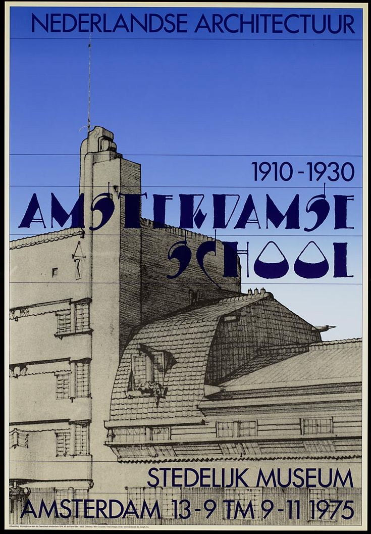 1910-1930 Amsterdamse School Stedelijk Museum Amsterdam 13-9 tm 9-11 1975