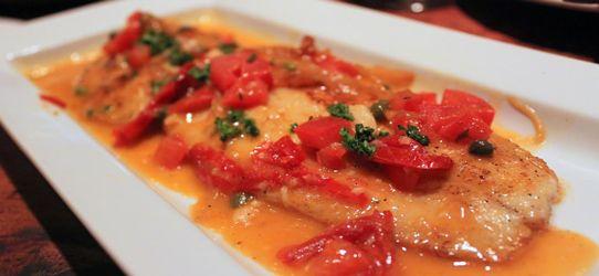 Ψάρι γλώσσα στο φούρνο με μυρωδικά