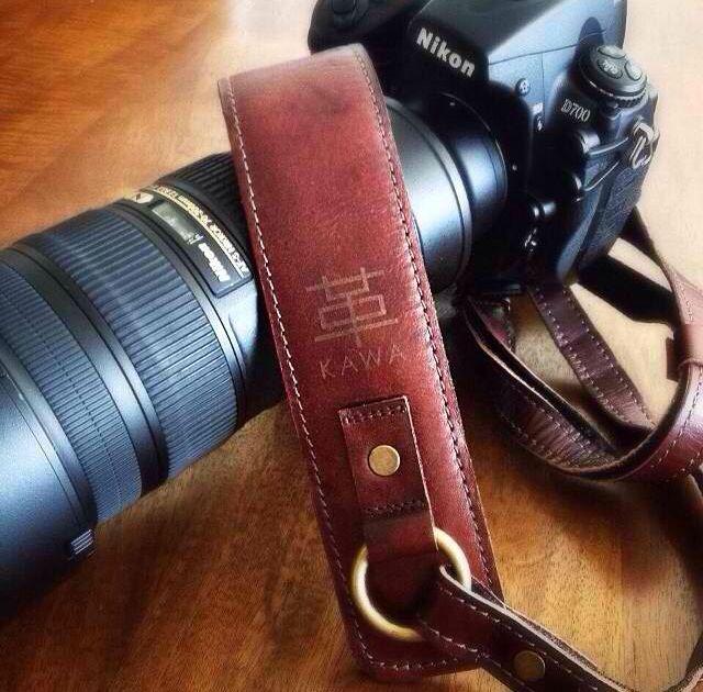 レザーカメラストラップ  DSLR Leather Camera Strap by KAWA Pro Gear (info@kawaprogear.com)