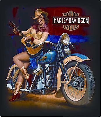 Pin-up Harley Davidson