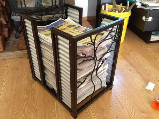 Newspaper Stand Designs : Images about magazine rack plans on pinterest