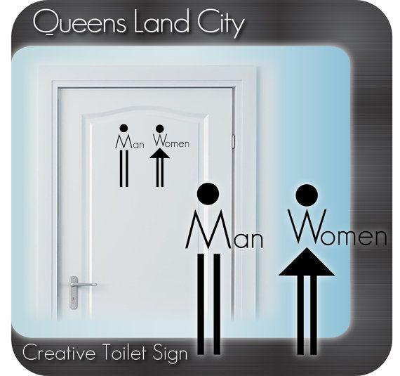 Kreative lustige Badezimmer Toilette WC Business Pub Club Restaurant Tür Zeichen Vinyl Aufkleber Abziehbild A01