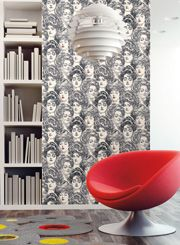 Pucker Up - vintage design in a modern way!  Wallpaper glam!: Risky Business, Buttercup Wallpapers, York Wallcov, Boxes Ss2419, Pucker Up, Black Design, Business Collection, Ss2419 Pucker, Black White Red
