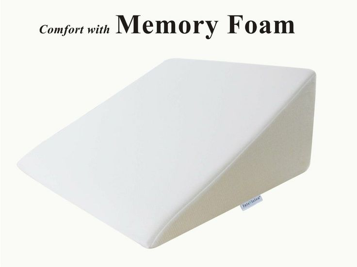 Foam Wedge Bed Pillow Helps with Acid Reflux Snoring Allergies