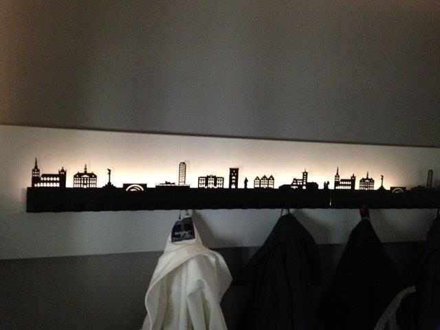 Wandkapstok Skyline Den Bosch