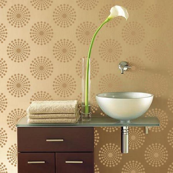 plantilla decorativa para pintar paredes y crear efectos como el papel tapiz y viniles decorativos