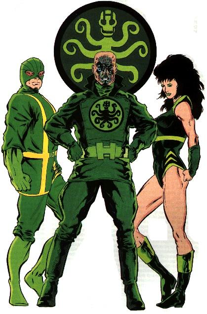 HYDRA - Baron Wolfgan Von Strucker, Madam Hydra (aka Viper) and a Hydra agent