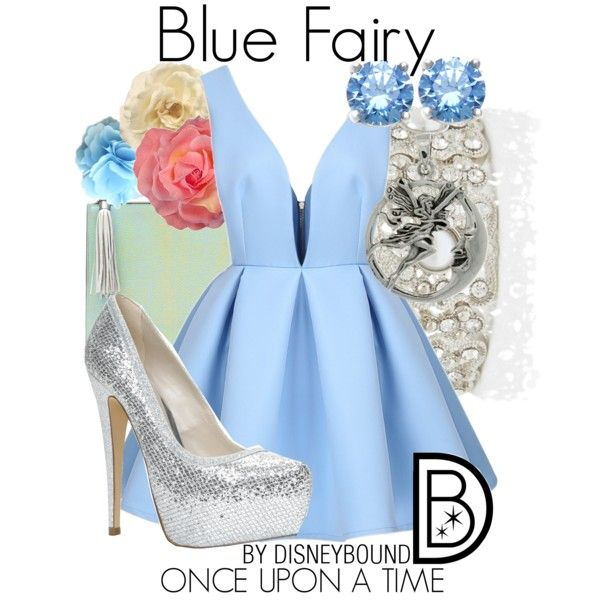 """Blue Fairy"" by leslieakay on Polyvore"