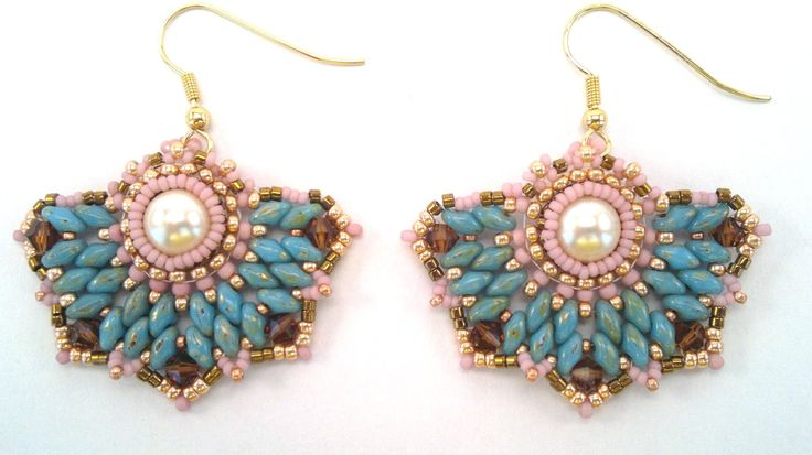 Beading4perfectionists: Art Deco stylish earrings beading tutorial