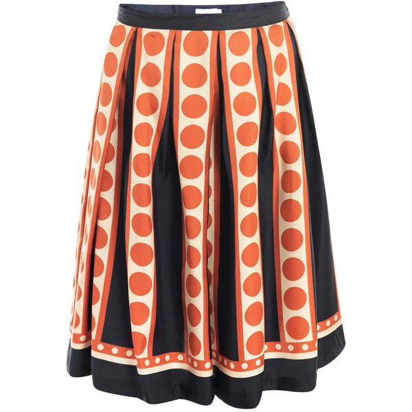 Collette by Collette Dinnigan Georgina pleated skirt found on Polyvore