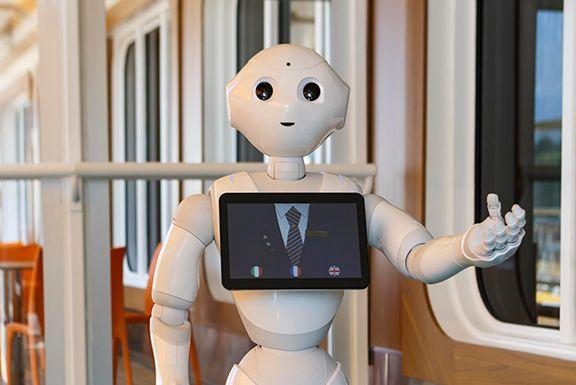 El Robot Pepper, el nuevo miembro del Staff del Crucero Costa Diadema