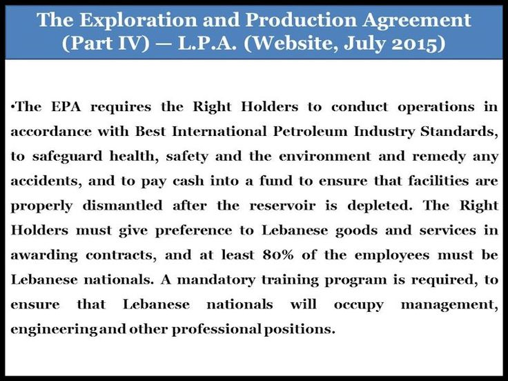 14 best Lebanonu0027s Offshore Natural Gas The Importance of Two - agreement for labour contract