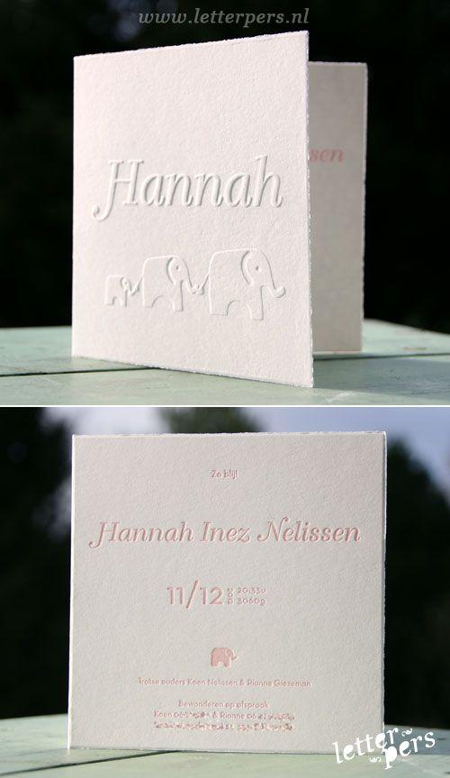 letterpers_letterpress_geboortekaartje_Hannah_olifant_preeg
