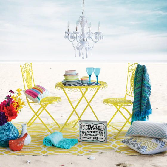 Miami Link Outdoor Rug - Yellow