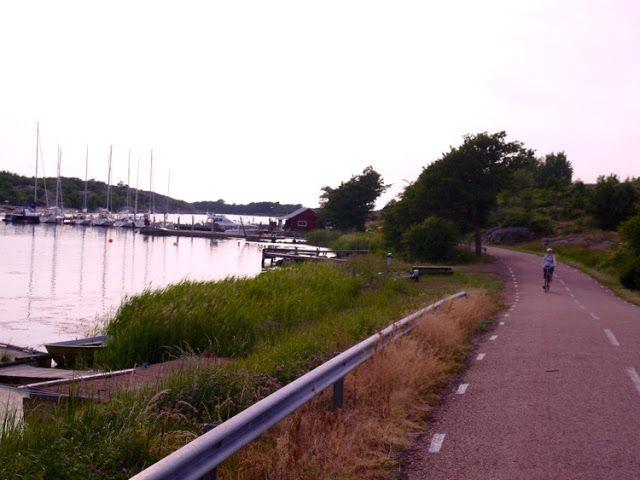 Exploring Kökar, Åland by bike. Helsö Guest Harbour in sight