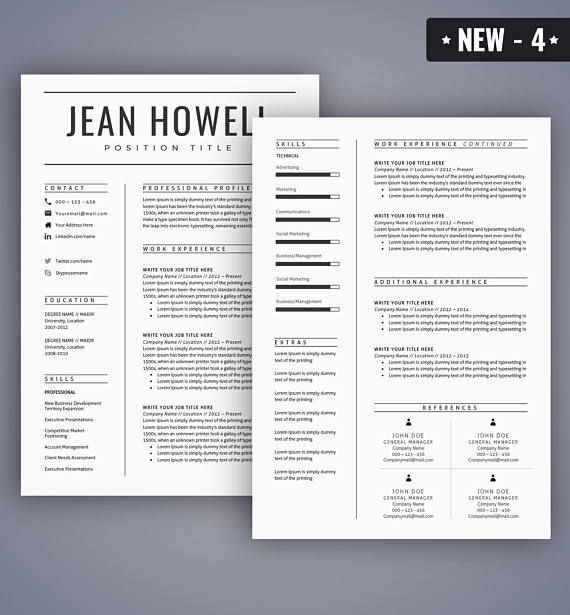 Resume Template Cv Template For Ms Word Best Selling Resume Templates Professional And Creative Design Instant Download Resume Template Resume Template Professional Resume Template Word