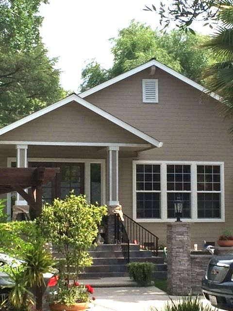 Sw Tony Taupe Would Look Great With Black Trim And Shutters Exterior Paint In 2018 Pinterest House
