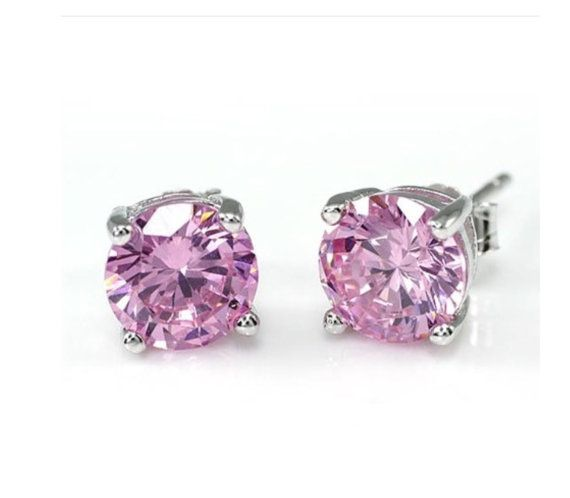 Check out this item in my Etsy shop https://www.etsy.com/au/listing/265308384/free-shippingsterling-silver-pink-cubic