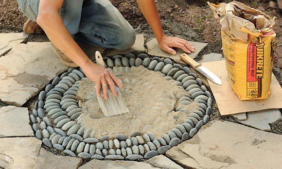 How to make a pebble mosaic.