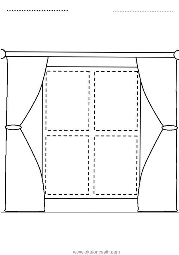 Dikdortgen Kavrami Calisma Sayfasi Boyama Sayfalari Geometri Ve