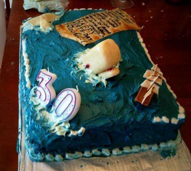 Captain Ahab Birthday Cake