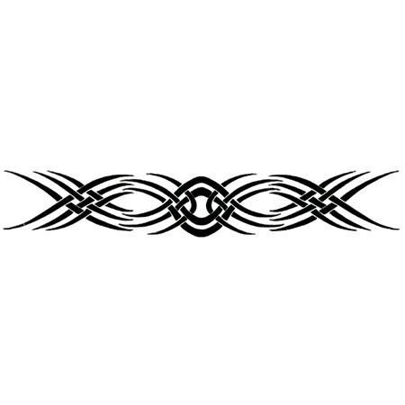 New Tribal Tattoo by Raven. $2.00. Temporary Tattoo. 8.5x1.5. In Stock. This arm band tattoo image has a 'new' black tribal design.