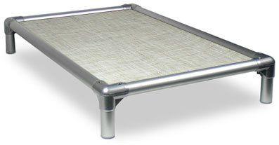Kuranda All-Aluminum (Silver) Chewproof Dog Bed - XXL (50x36) - Vinyl Weave - Birch Forest