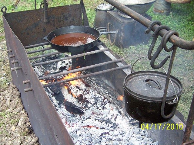 Open Pit Cooking Equipment Cowboys And Chuckwagon
