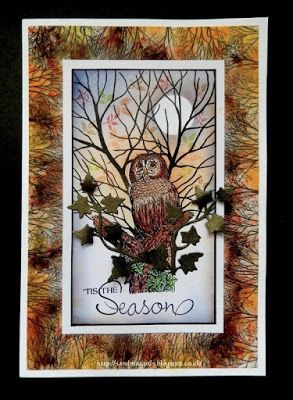 Sandma's Handmade Cards: FSC - Flonz Owl and Inkylicious Stamps