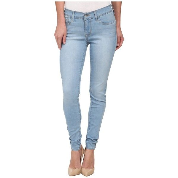 Levi's Womens 710 Super Skinny Women's Jeans ($55) ❤ liked on Polyvore featuring jeans, levi skinny jeans, skinny fit jeans, zipper skinny jeans, patched jeans and levi's