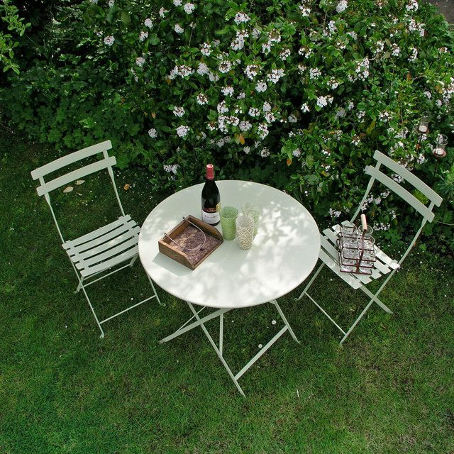 Bistro 77cm Round Table by Fermob Bistro — The Worm that Turned - REVITALISING YOUR OUTDOOR SPACE
