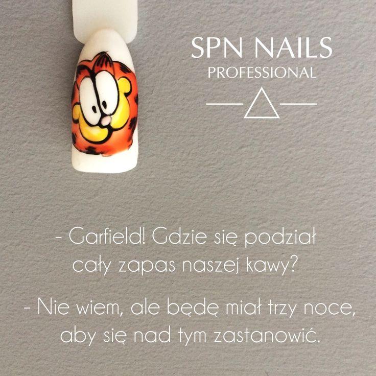 #Moda na bajkowe paznokcie świetnie wpisuje się w Dzień Postaci z Bajek.  Które postacie z kreskówek malujecie najczęściej? #Bajka #Garfielg #nailsart #spnnails #spnlove #welovespn #spn #nails #inspiration #bajkowepaznokcie