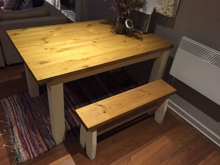 Beautiful Farmhouse Style Table And Benches
