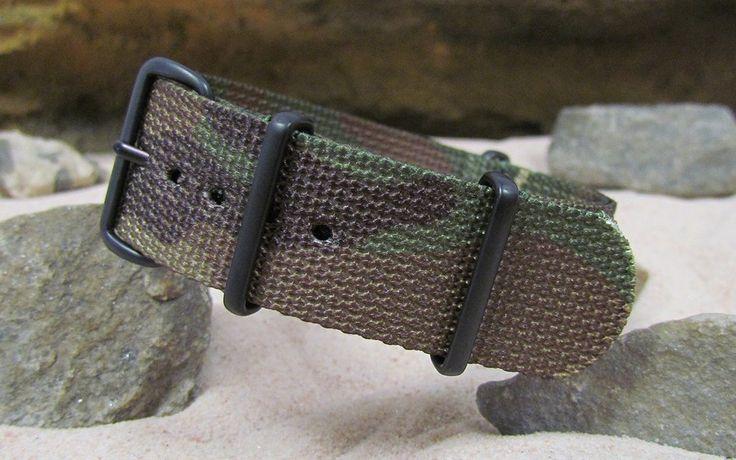 The Col. Braddock NATO Strap w/ PVD Hardware (Stitched) 22mm