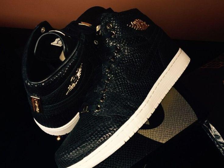 Air Jordan 1 Black And Gold Ebay