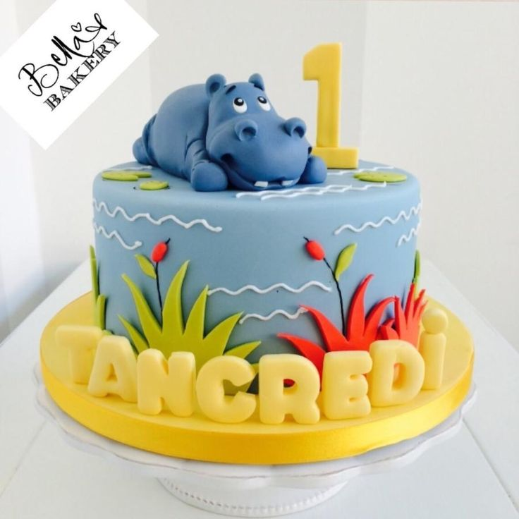Hippo cake - Cake by Bella's Bakery