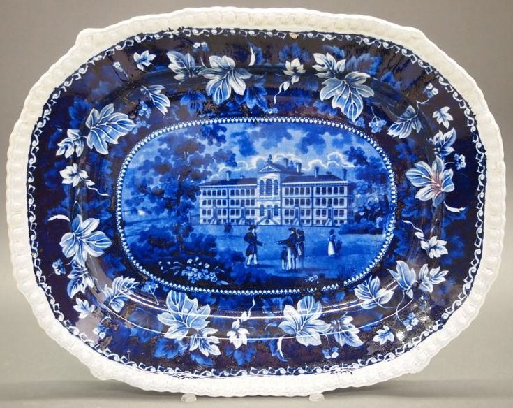Alms House, Boston Historical platter - Price Estimate: $200 - $300