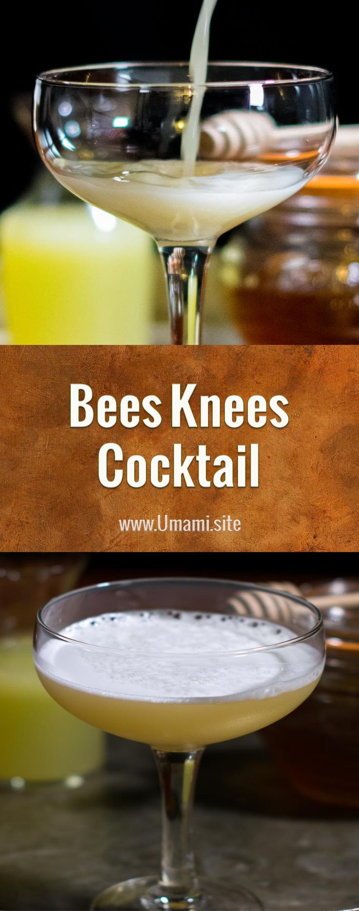 The Bees Knees is a traditional summer cocktail recipe made with gin, lemon juice, and a honey simple syrup that lives up to its name with warm honey flavors and a beautiful golden color.