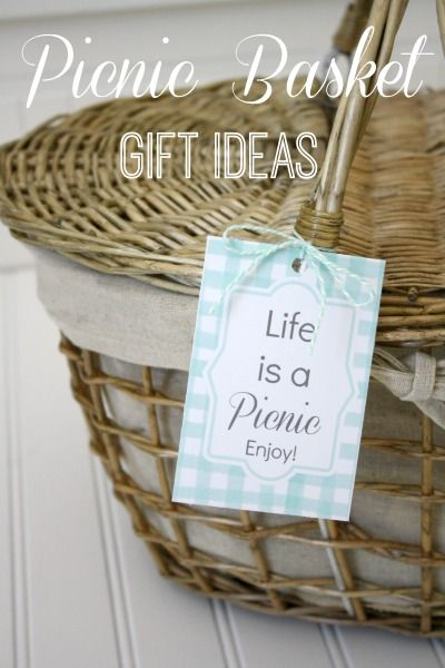 DIY Picnic Basket Gift Ideas with Free Printables!