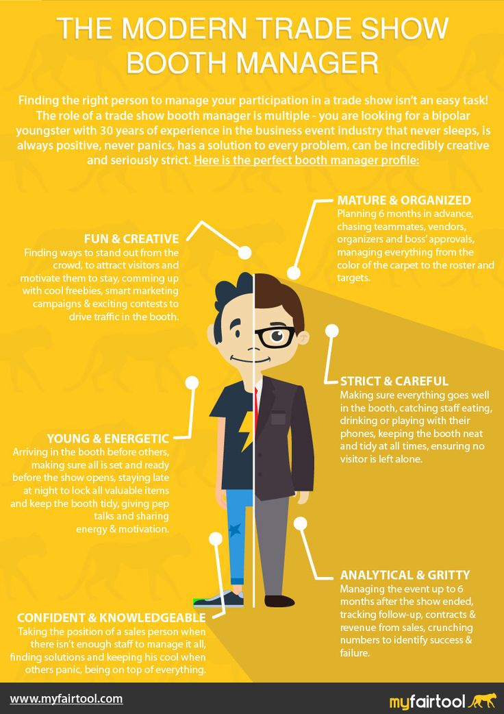 I think everyone who's ever been in charge of a trade show booth will get a chuckle out of this infographic! The Modern Trade Show Booth Manager