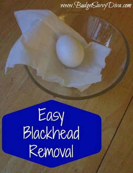 Easy Blackhead Removal Problems with blackheads? Don't waste your money on expensive washes, use this tip instead: Beat an egg white in a small bowl, making sure there's no yolk in it. Apply the egg whites to the areas with blackheads. Put two layers of thin tissue paper on top of the egg. Allow it to dry, then peel it off. Wash and moisturize your face as usual.