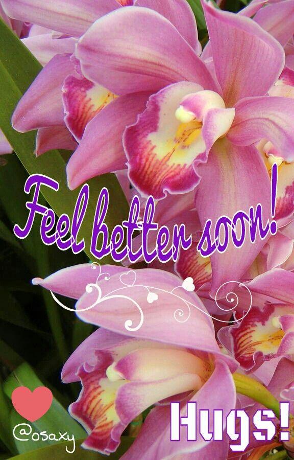 Feel better soon...:)