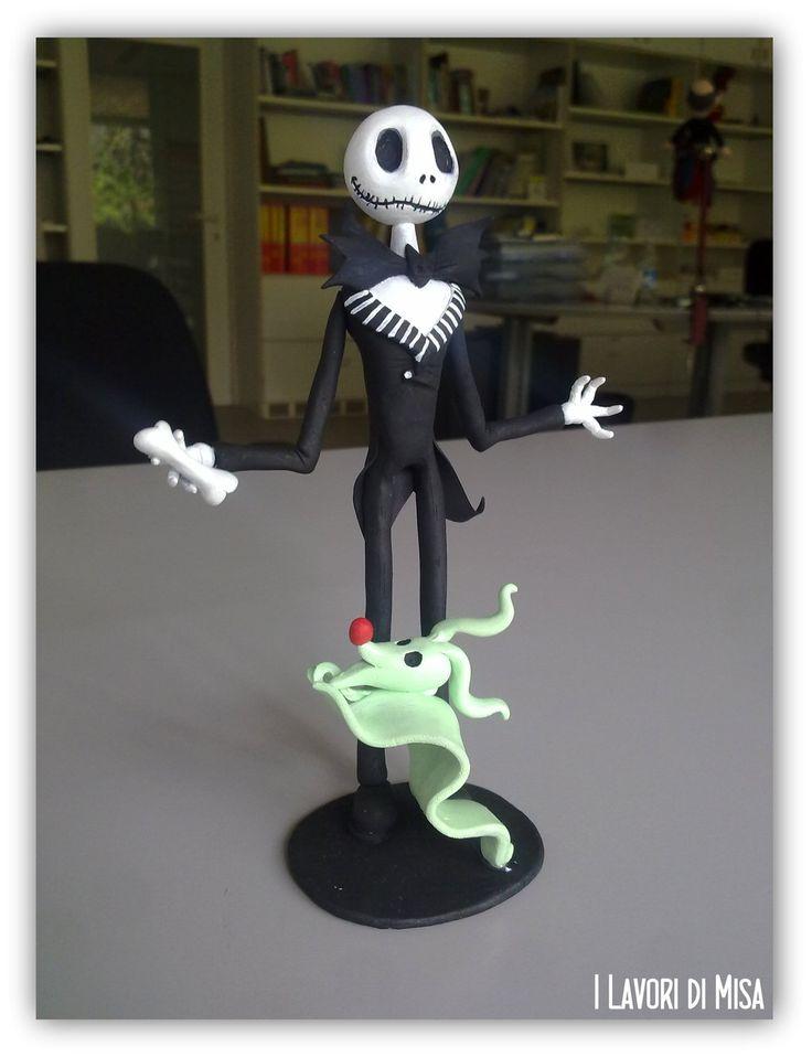 Jack Skeleton (sculpey) by ~Misa86 on deviantART. Follow me on Facebook (https://www.facebook.com/pages/I-lavori-di-Misa/151341828294919)! ^^