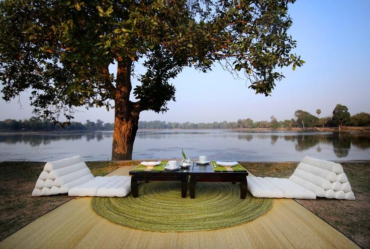 Waterside dining at Alila Sothea - Siem Reap, Cambodia