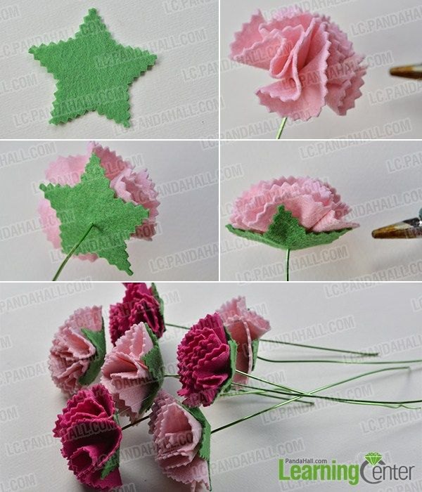 Make The Second Part Of The Felt Carnation Flower Bouquet Carnation Flower Felt Flowers Flowers Bouquet